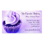 Purple Vintage Cupcake Sprinkles Business Cards