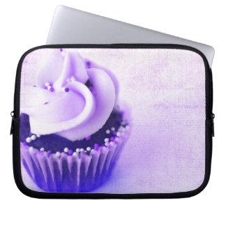 Purple Vintage Cupcake Sprinkles Laptop Computer Sleeve