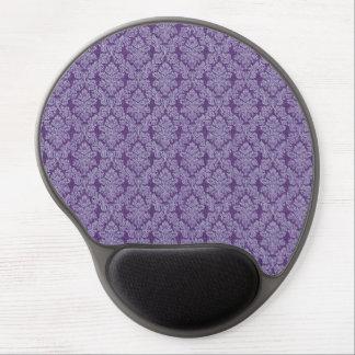 Purple vintage damask ornament textile pattern gel mouse pad