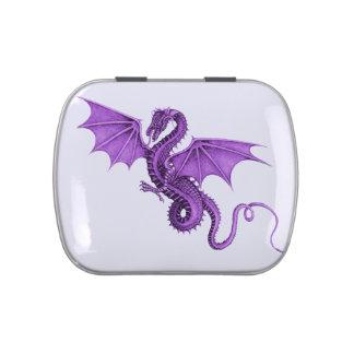 Purple Vintage Dragon Candy Tin