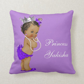 Purple Vintage Ethnic Princess Baby Throw Pillow