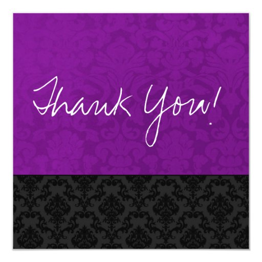 Purple Vintage Flat Thank You Cards