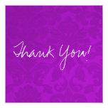 Purple Vintage Flat Thank You Cards Invitation