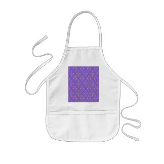 Purple Vintage Floral Pattern Kids' Apron