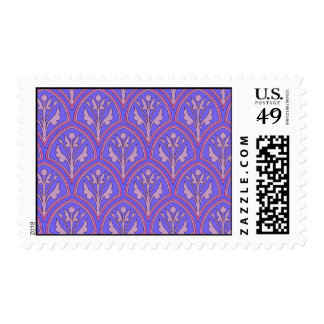 Purple Vintage Floral Pattern Postage