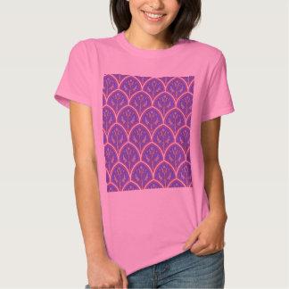 Purple Vintage Floral Pattern T Shirt