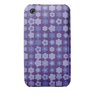 purple vintage flowers iPhone 3 Case-Mate case