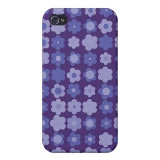 purple vintage flowers iPhone 4/4S cases