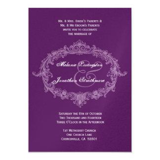 Purple Vintage Frame Wedding Template