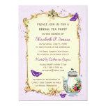Purple Vintage French Bridal Tea Party Card