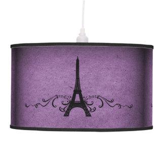 Purple Vintage French Flourish Ceiling Lamp