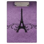 Purple Vintage French Flourish Clipboard