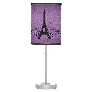 Purple Vintage French Flourish Desk Lamp