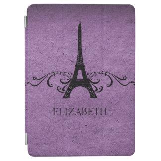 Purple Vintage French Flourish iPad Air Cover
