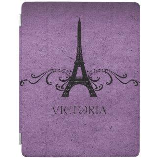 Purple Vintage French Flourish iPad Cover