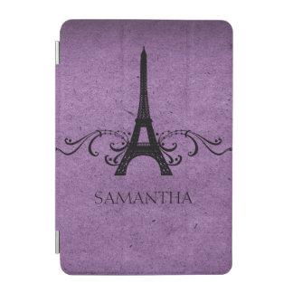 Purple Vintage French Flourish iPad Mini Cover