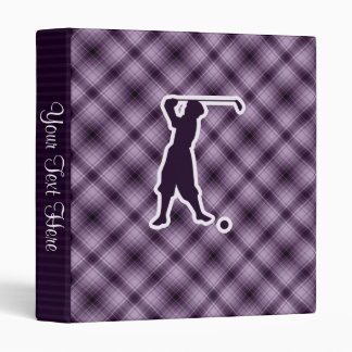 Purple Vintage Golfer 3 Ring Binder