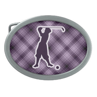 Purple Vintage Golfer Belt Buckles