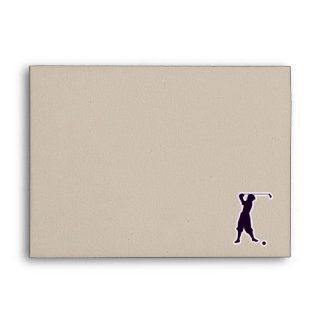 Purple Vintage Golfer Envelope