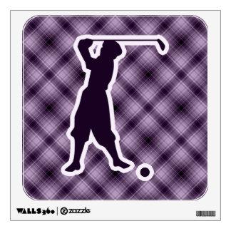 Purple Vintage Golfer Room Graphics