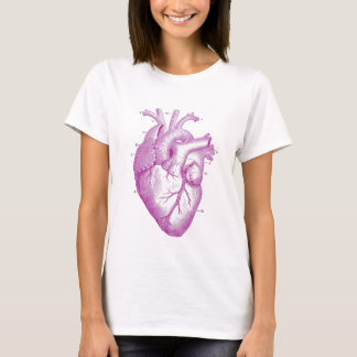 Purple Vintage Heart Anatomy T-Shirt