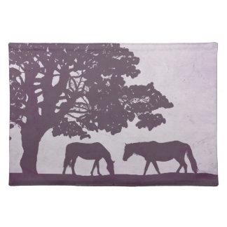 Purple Vintage Horse Farm Wedding Placemat