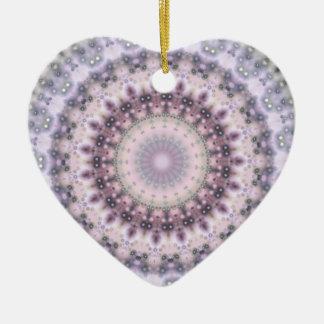 Purple Vintage mandala kaleidoscope Ceramic Ornament