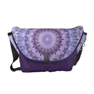 Purple Vintage mandala kaleidoscope Messenger Bag
