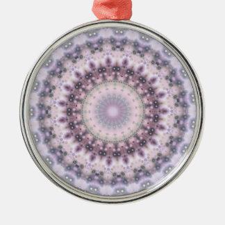 Purple Vintage mandala kaleidoscope Metal Ornament
