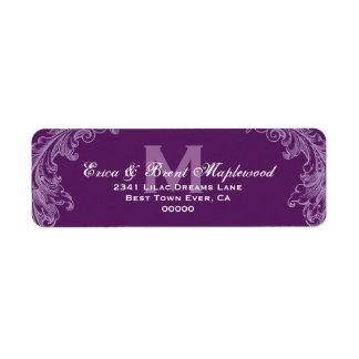 Purple Vintage Monogram B4556 Label