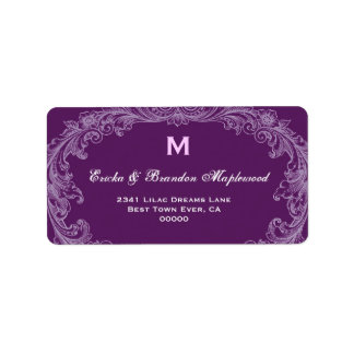 Purple Vintage Monogram B455A Label