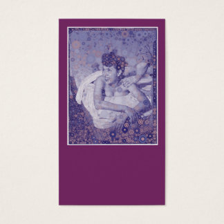Purple Vintage Retro Massage Therapy Therapist Business Card