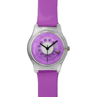 Purple Vintage Retro Rotary Dial Concept Watch