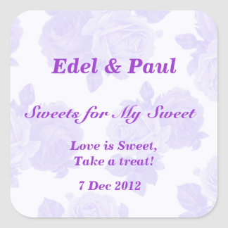 Purple Vintage Rose Sweets for my Sweet Sticker