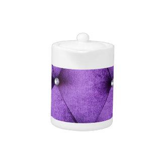 Purple vintage victorian cafe style velvet textile