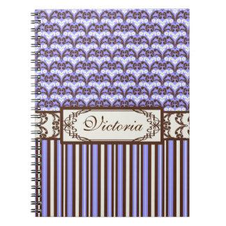 Purple Vintage Victorian Wild West Elegant Damask Notebook