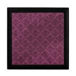 Purple Vintage Wallpaper Grunge Texture Keepsake Boxes