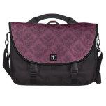 Purple Vintage Wallpaper Grunge Texture Commuter Bags