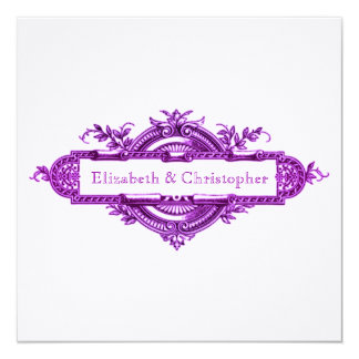 Purple Vintage Wedding Memory Cards