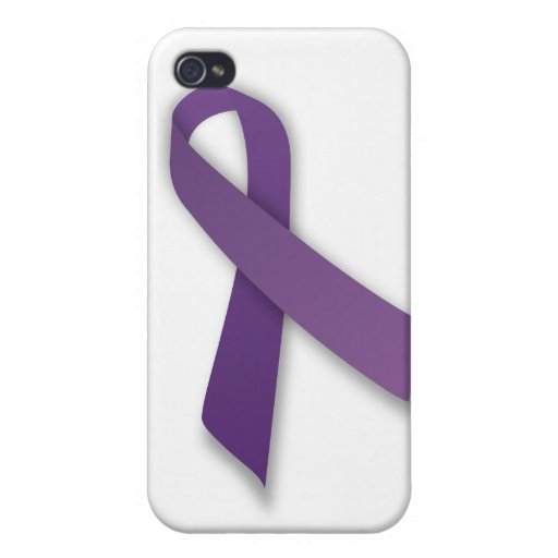 Purple Violence and Abuse Prevention Ribbon iPhone 4/4S Covers
