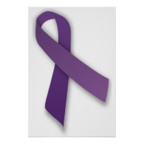 Purple Violence and Abuse Prevention Ribbon Poster