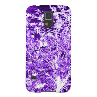 Purple Violet Abstract Tree Branches Galaxy S5 Case