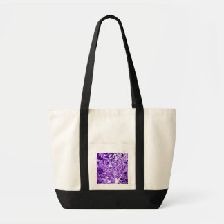Purple Violet Abstract Tree Branches Tote Bag