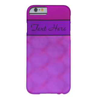Purple Violet and Black Text Barely There iPhone 6 Case