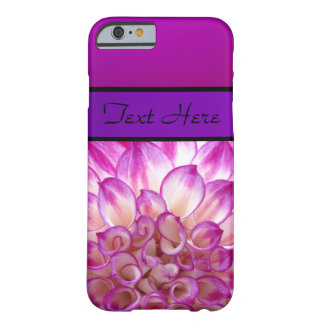 Purple Violet and pink Flowers Barely There iPhone 6 Case