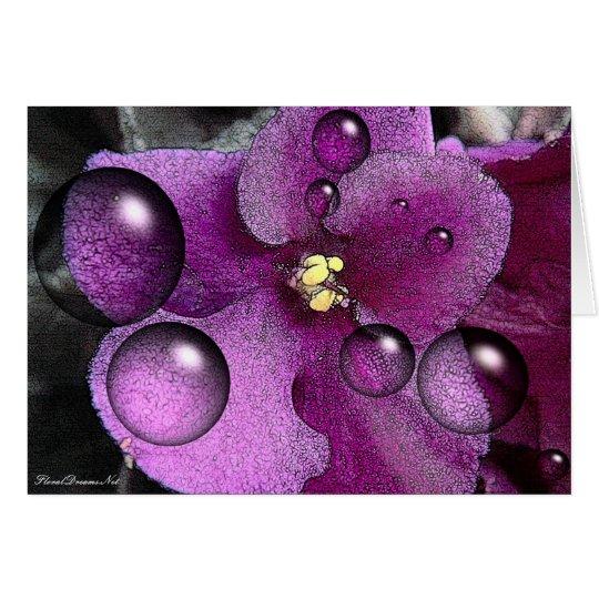 Purple Violet Blank Greeting Card