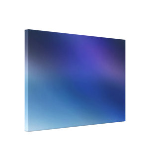 Purple Violet Blue & Gray Contemporary Abstract Canvas Print