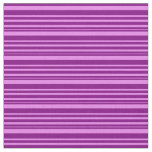 [ Thumbnail: Purple & Violet Colored Lined/Striped Pattern Fabric ]