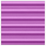 [ Thumbnail: Purple & Violet Colored Lines Fabric ]