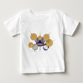 Purple / Violet Drum Kit: Baby T-Shirt